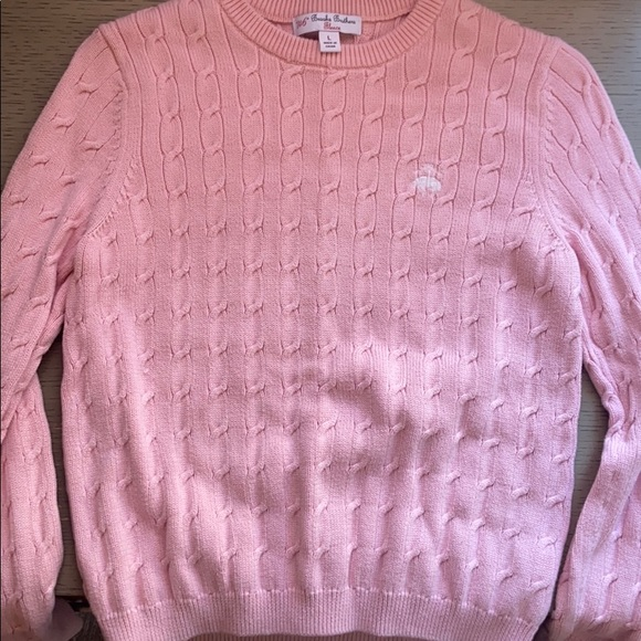 Girls Pink Brooks Brothers Sweater Size L